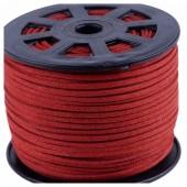 Красный цвет. Замшевый плоский шнур.3 мм  100 м