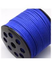 Синий цвет. Замшевый плоский шнур.3 мм  100 м
