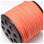 Оранжевый цвет. Замшевый плоский шнур.3 мм  100 м
