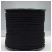 1 м. Черный цвет. Замшевый плоский шнур.3 мм