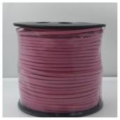 1 м. Розовый цвет. Замшевый плоский шнур.3 мм