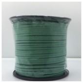 1 м. Зеленый цвет. Замшевый плоский шнур.3 мм