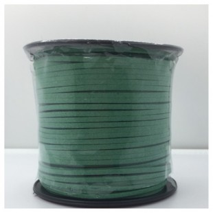 100 м. Зеленый цвет. Замшевый плоский шнур.3 мм