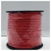 1 м. Красный цвет. Замшевый плоский шнур.3 мм