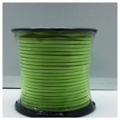 1 м. Салатовый цвет. Замшевый плоский шнур.3 мм