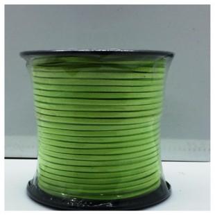 100 м. Салатовый цвет. Замшевый плоский шнур.3 мм