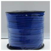 1 м. Синий цвет. Замшевый плоский шнур.3 мм