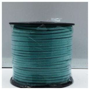 100 м. Голубой цвет. Замшевый плоский шнур.3 мм