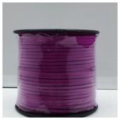 1 м. Сиреневый цвет. Замшевый плоский шнур.3 мм