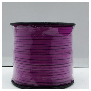100 м. Фиолетовый цвет. Замшевый плоский шнур.3 мм