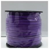 1 м. Фиолетовый цвет. Замшевый плоский шнур.3 мм