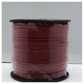 1 м. Бордо цвет. Замшевый плоский шнур.3 мм