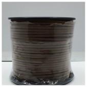 1 м. Коричневый цвет. Замшевый плоский шнур.3 мм