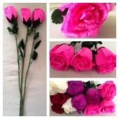 1 шт. Розовый цвет. Розы из перьев! Цветы из перьев