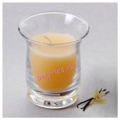 6.5х6.5х7.7 см. Ваниль. Свеча ароматическая в стеклянном стакане.
