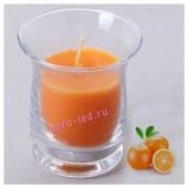 6.5х6.5х7.7 см. Апельсин. Свеча ароматическая в стеклянном стакане.