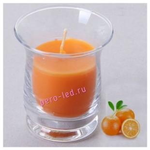 6.5х6.5х7.7 см. Апельсин. Свеча ароматическая в стеклянном стакане