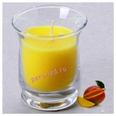 6.5х6.5х7.7 см. Манго. Свеча ароматическая в стеклянном стакане