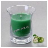 6.5х6.5х7.7 см. Яблоко.Свеча ароматическая в стеклянном стакане.