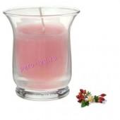 6.5х6.5х7.7 см. Шиповник. Свеча ароматическая в стеклянном стакане.