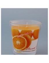 6.5х6.5х6.5 см  Апельсин. Свеча ароматическая в стекле.