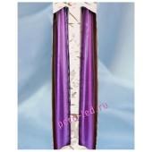 2 шт. Фиолетовый цвет. Свеча классическая в коробочке. 23 мм х 23 мм х 250 мм