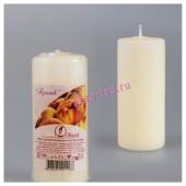Персик.  Свеча ароматическая пеньковая. 115 мм х 50 мм