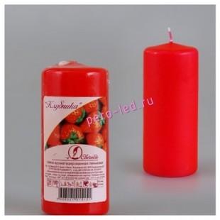 Свеча ароматическая пеньковая. Клубника. 115 мм х 50 мм