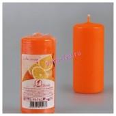 Апельсин.  Свеча ароматическая пеньковая. 115 мм х 50 мм