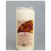Персик.  Свеча ароматическая пеньковая. 90 мм х 40 мм