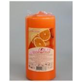 Апельсин. Свеча ароматическая пеньковая. 90 мм х 40 мм