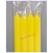 4 шт. Желтый  цвет. Свеча классическая. 19 мм х 19 мм х 175 мм