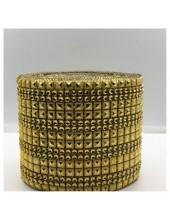 1 м. Золото цвет. Металлическая тесьма 11 см. Кубики  НА-1