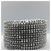 1 м. Серебро цвет. Металлическая тесьма 8 см. Ежик. ФА-2