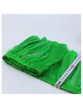 1 м.  Зеленый цвет. Тесьма. Перья петуха на ленте 14-17 см.