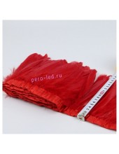 1 м. Красный цвет. Тесьма. Перья петуха на ленте 14-19 см.