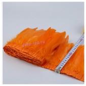 1 м. Оранжевый цвет. Тесьма. Перья петуха на ленте 14-19 см.